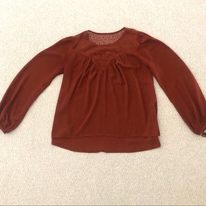 Rust Colored Blouse